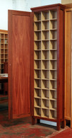 3 x11 Cd cabinet, Jarrah and Clear, Traditional with door