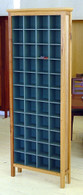 4x11 Cd cabinet, Ash and Valley Blue, Traditional
