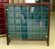 6x5 CD cabinet with glass doors, Traditional