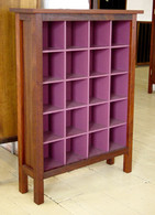 4x5 CD cabinet, Jarrah and Berry, Traditional