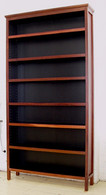 Extra Large Bookcase, Jarrah and Black, Traditional