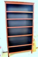 Bookcase, Standard, Jarrah and Black, Traditional