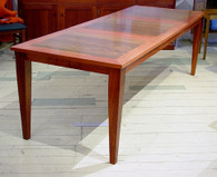 Extension table in Redgum with Blackbean panels
