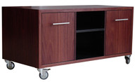 Jarrah and Black Hifi cabinet with two drawers