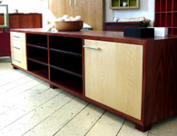 Jarrah and Rock Maple cabinet