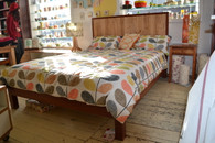 Jarrah bed with Crazy Ash panel, Queen
