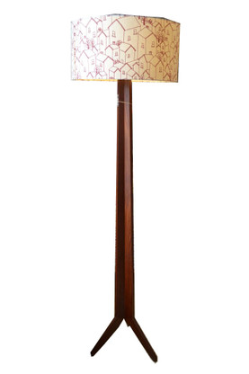 Jeremy Wilkin's floor lamp in solid Jarrah timber