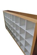 9x4 Cd cabinet, Stripey Ash with white interior, barbi