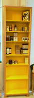 Bookcase, Tall and Slim, Ash with yellow interior,barbi