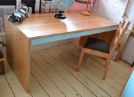 Desk, Victorian Ask with three drawers