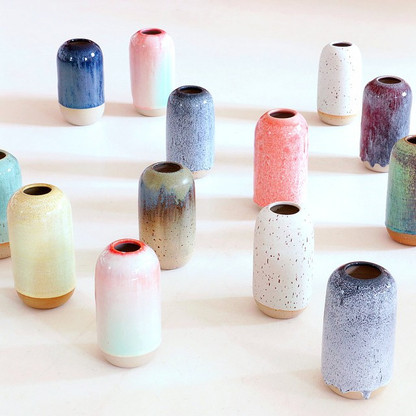 Lucky dip when it comes to the colour of your one of a kind Yuki vase! Exciting!