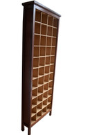Cd cabinet 4x11, Jarrah and clear interior, traditional