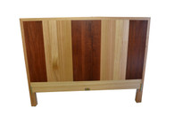 Straight back bed, Ash with Jarrah stripes, queen size