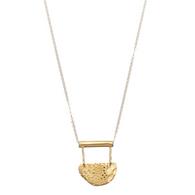 SHABANA J gold necklace aztec small