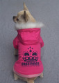 Crown Dog Coat Pink