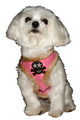 Hip Doggie Fur Skull Dog Harness Vest Pink