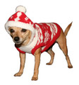 Hip Doggie Red Snowflake Hoodie For Your Dog
