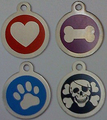 Pet ID Tag For Dogs & Cats - Stainless Steel Printed Circle