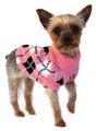 Urban Pup Pink & Black Argyle Dog Sweater