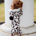 Dog in Soft and Cuddly Dog Onesie