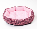 Pink Leopard Skin Coloured Pet Bed