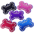 Pet ID Tag For Dogs & Cats - Rhinestone Design Medium