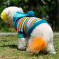 Knitted Stripy Dog Sweater