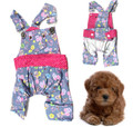 Dogs Flower Pattern Dungarees