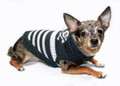 Hip Doggie Skull & Stripes T-Neck - Black Sweater