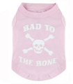 Bad To The Bone Dog Tee Pink