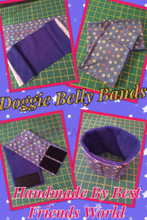 Handmade Dog Belly Bands