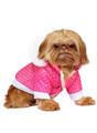 Urban Pup Thermo Pink Hearts Quilted Parka
