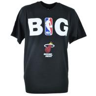 Adidas NBA Miami Heat BIG Tshirt Tee Black Adult Men Tshirt Tee Large Lg Shirt