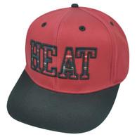 NBA Miami Heat Flatter Snapback Flat Bill HWC Plaid Two Tone Hat Cap Basketball