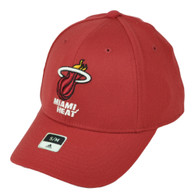 Miami Heat Adidas Flex Fit Hat Cap Small Medium Stretch Basketball Curved Bill