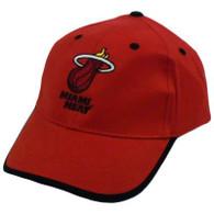 HAT CAP MIAMI HEAT NBA BASKETBALL WHITE HOT  RED BLACK COTTON ELEVATION