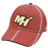 MIAMI HEAT ADIDAS FLEX FIT LG XL WADE LEBRON HAT CAP