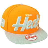 NBA New Era 9Fifty Miami Heat Neon Team Script Heather Strap Back Buckle Hat Cap