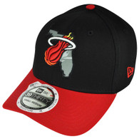 NBA New Era 3930 39thirty Miami Heat State Flect Curved Bill Black M/L Hat Cap