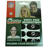 NFL Miami Dolphins 6 Vinyl Face Decoration Eye Strips Novelty DN8714 Game Day