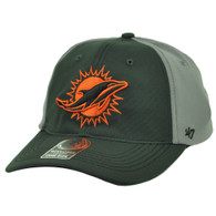 Miami Dolphins '47 Brand Forty Seven Flex Fit One Size Gray Hat Cap Stretch