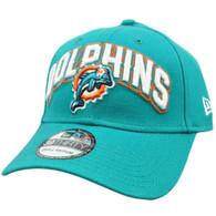 New Era 3930 39Thirty 2012 Black Flex Fit Cap Hat Small NFL Miami Dolphins
