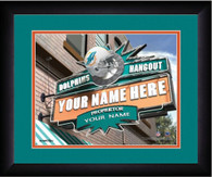 NFL Personalized Sports Pub Custom Framed Hangout Print Miami Dolphins Licensed
