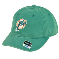 NFL Miami Dolphins Reebok Womens Garment Wash Clip Buckle Hat Cap Relaxed Rbk