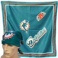 NFL Miami Dolphins jersey football bandana Scarf fandana teal orange licensed