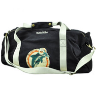 NFL Mitchell Ness Miami Dolphins Duffel Black Bag Travel Gym Washed Distressed