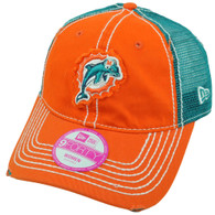 NFL New Era 9Forty Academy Miami Dolphins Women Ladies Trucker Buckle Hat Cap