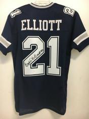 Ezekiel Elliott BLUE Autographed Jersey w/JSA