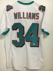 Ricky Williams WHITE Autographed Jersey w/JSA