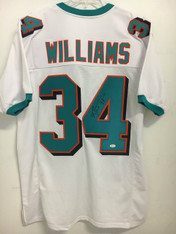 Ricky Williams WHITE Autographed Jersey w/JSA
